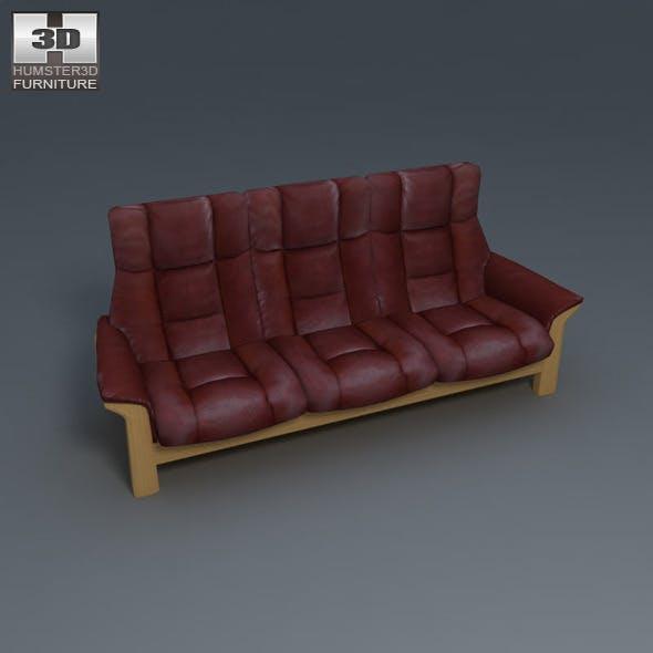 Buckingham 3-Seat Sofa - Ekornes Stressless - 3DOcean Item for Sale