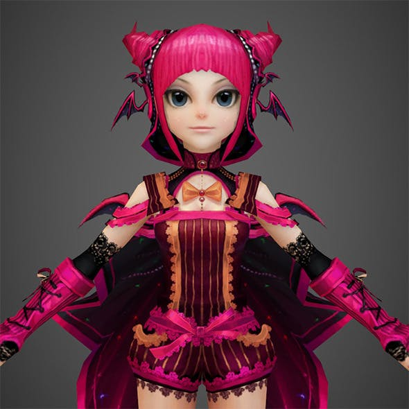 Toon character Pinky - 3DOcean Item for Sale