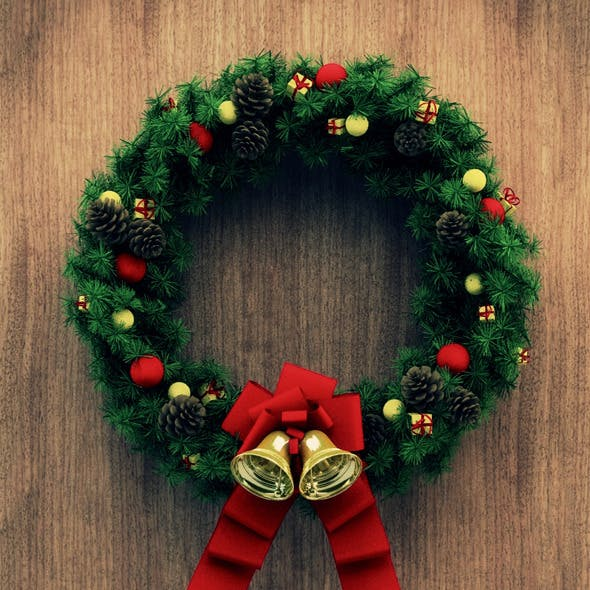 Christmas Door Decoration 04
