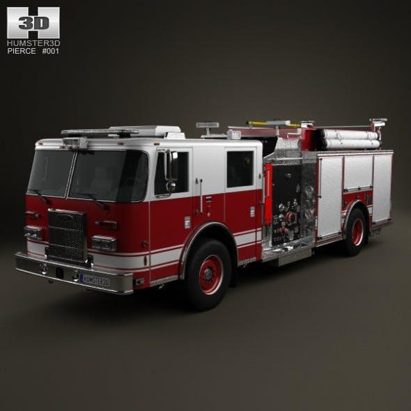 Pierce Fire Truck Pumper 2011 - 3DOcean Item for Sale
