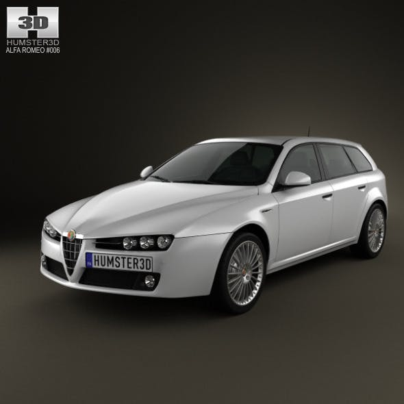 Alfa-Romeo 159 Sportwagon 2011 - 3DOcean Item for Sale