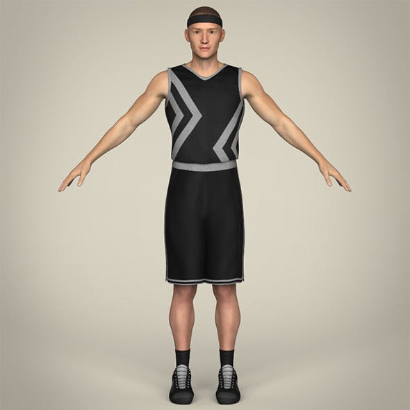 Realistic Male Basketball Player - 3DOcean Item for Sale