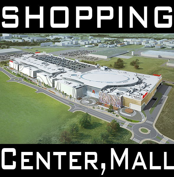 Mall, Shopping center, Retail Store - 3DOcean Item for Sale