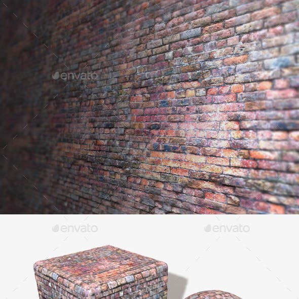 Old Purple Bricks Seamless Texture
