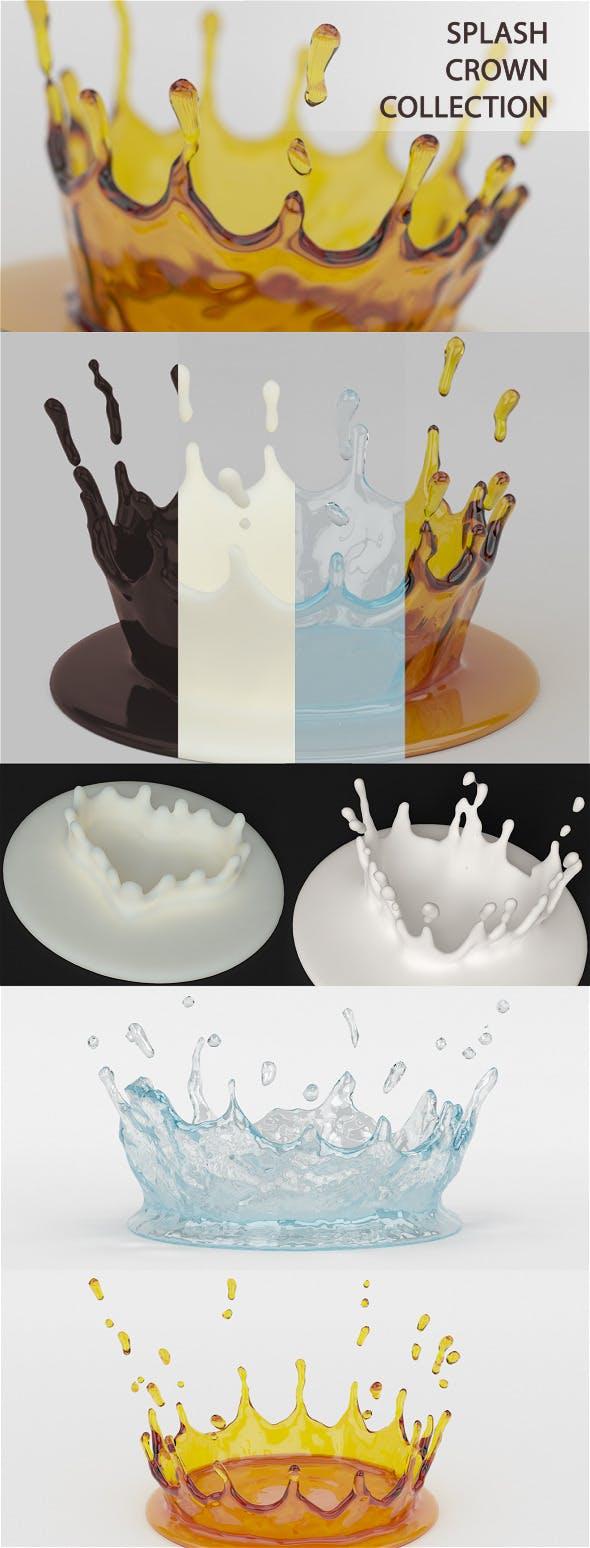 Splash Crown Collection - 3DOcean Item for Sale