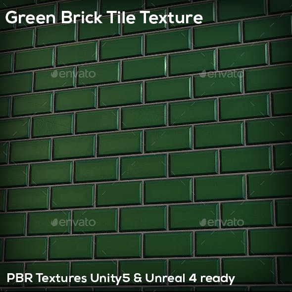 Green Brick Tile Texture