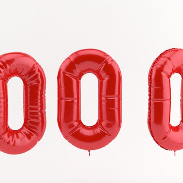 0 zero balloon