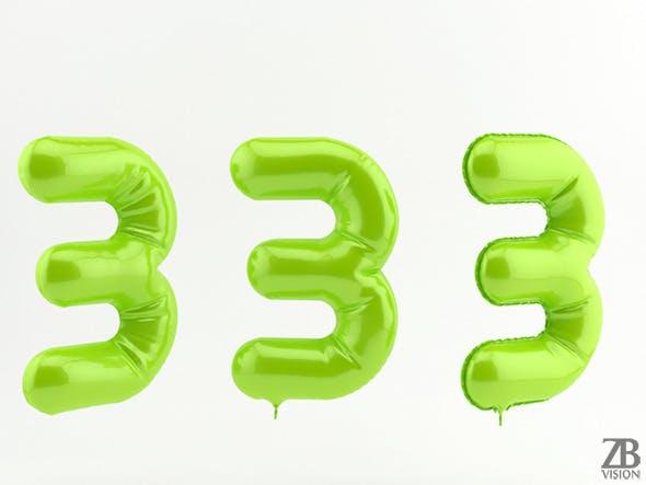 3 three balloon - 3DOcean Item for Sale