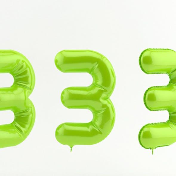 3 three balloon