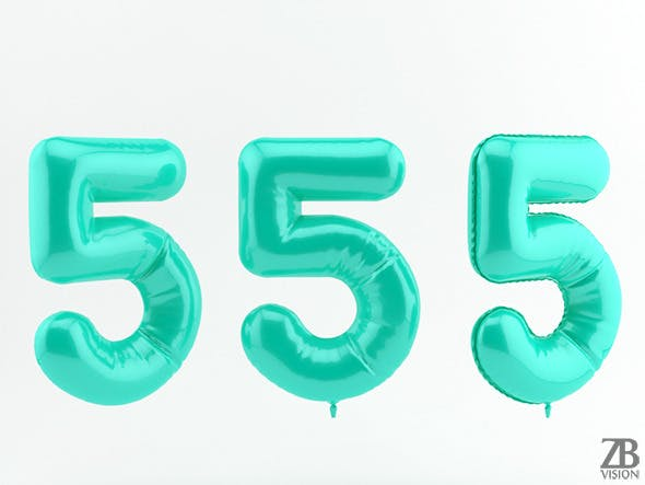 5 five balloon - 3DOcean Item for Sale