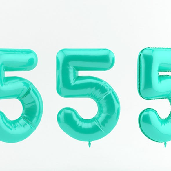 5 five balloon