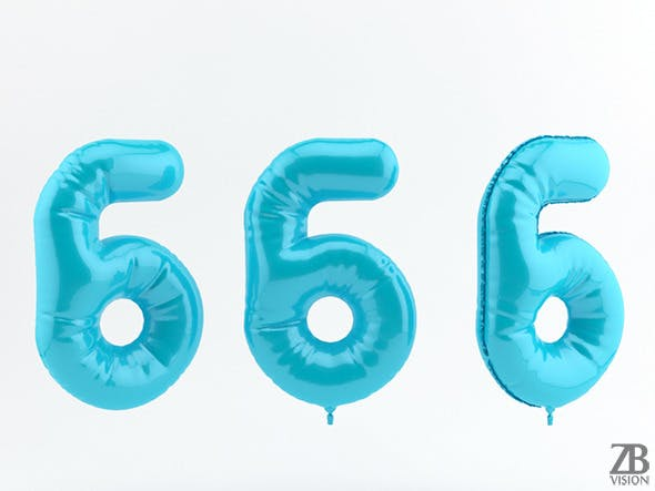 6 six balloon - 3DOcean Item for Sale