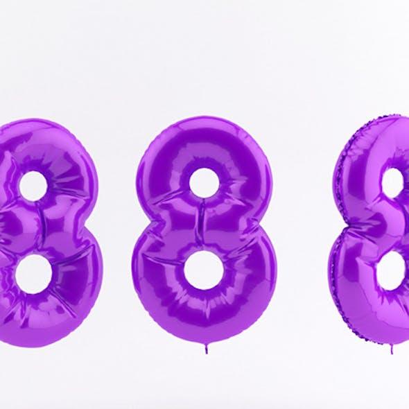 8 eight balloon