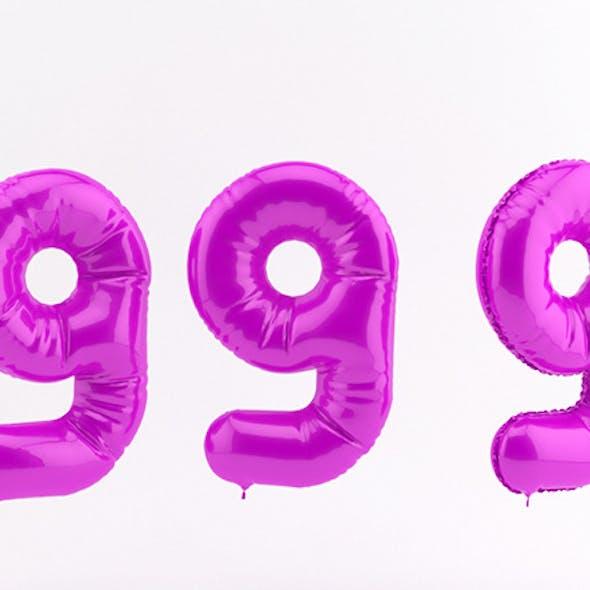 9 nine balloon