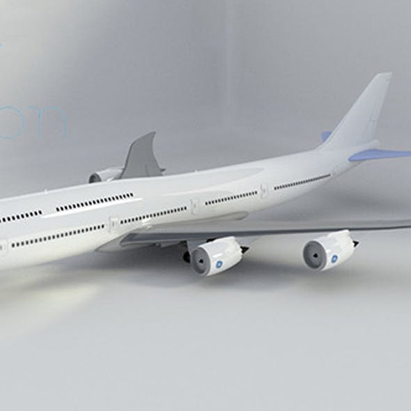 Rigged Boeing 747-8 Intercontinental