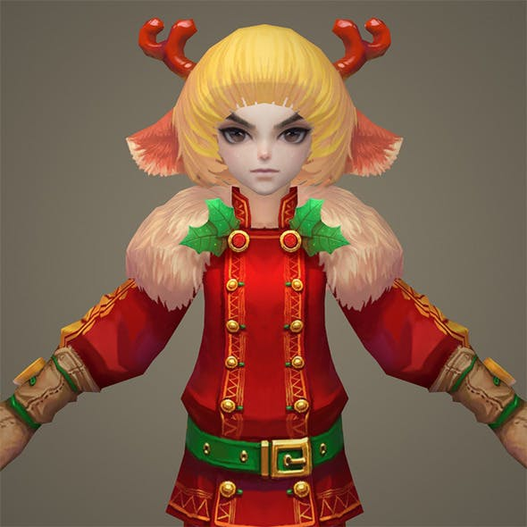 Toon character Roya - 3DOcean Item for Sale
