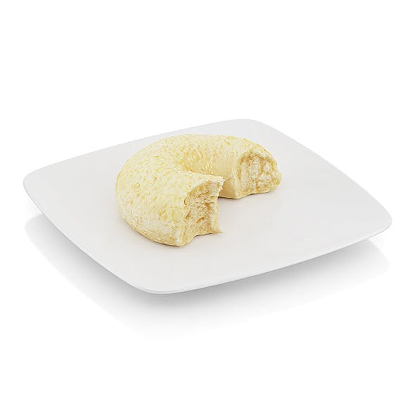 Bitten bagel with sesame seeds - 3DOcean Item for Sale