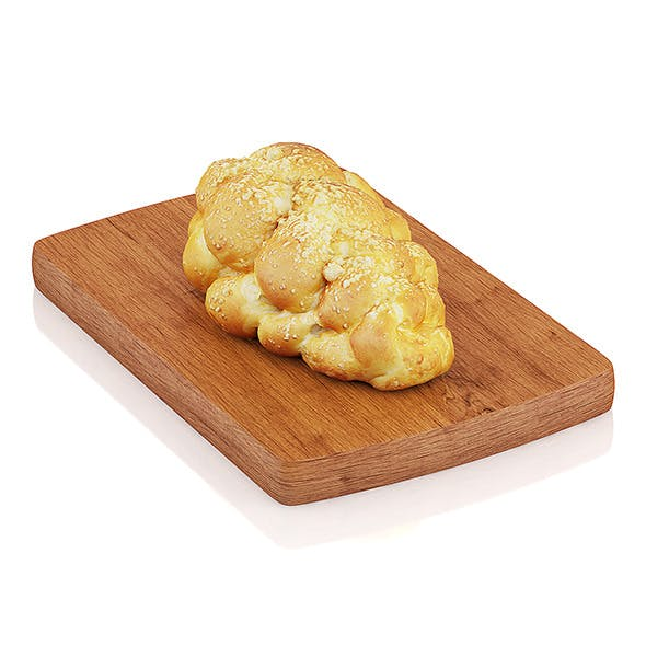 Challah bread - 3DOcean Item for Sale