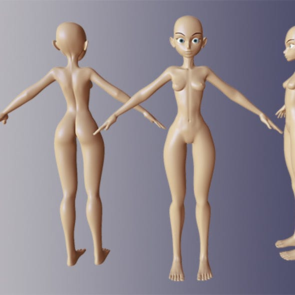 Anime Female Body