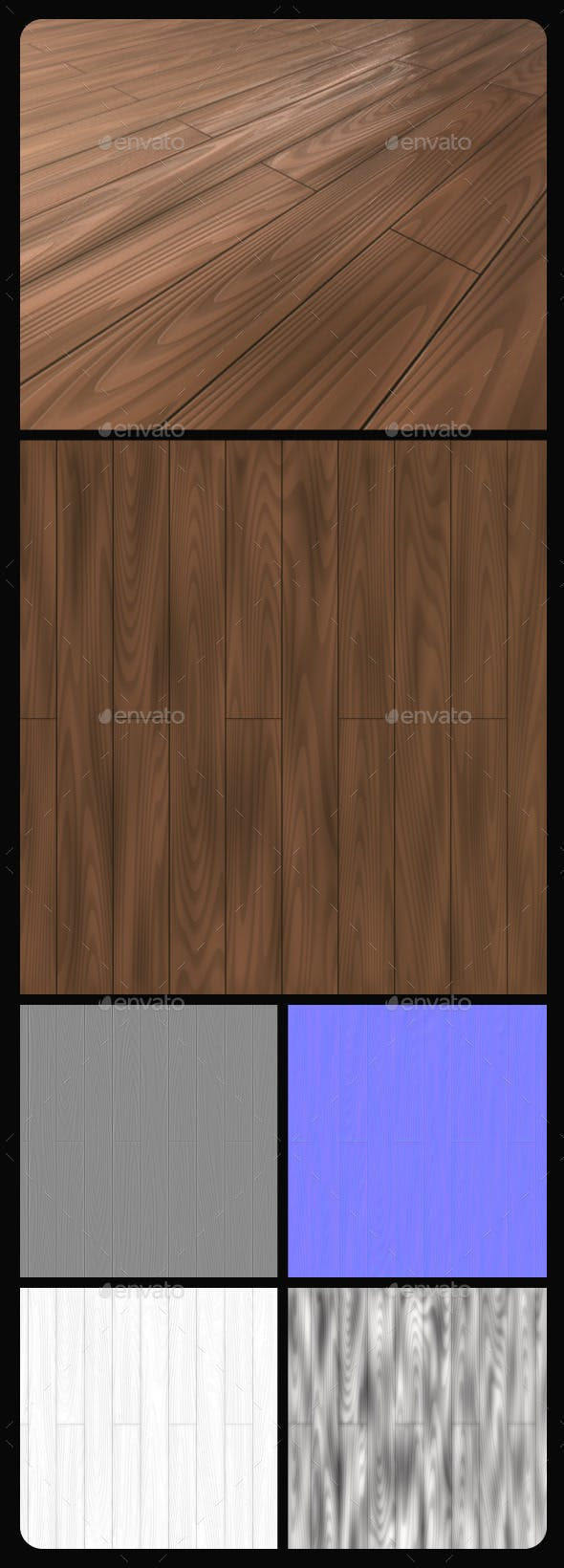 Wood Planks Tile Texture - 3DOcean Item for Sale