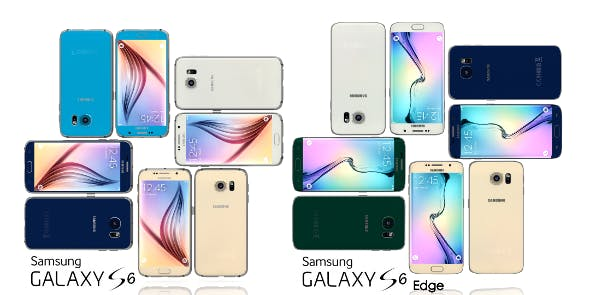 Samsung Galaxy S6 and S6 Edge All Color Pack  - 3DOcean Item for Sale