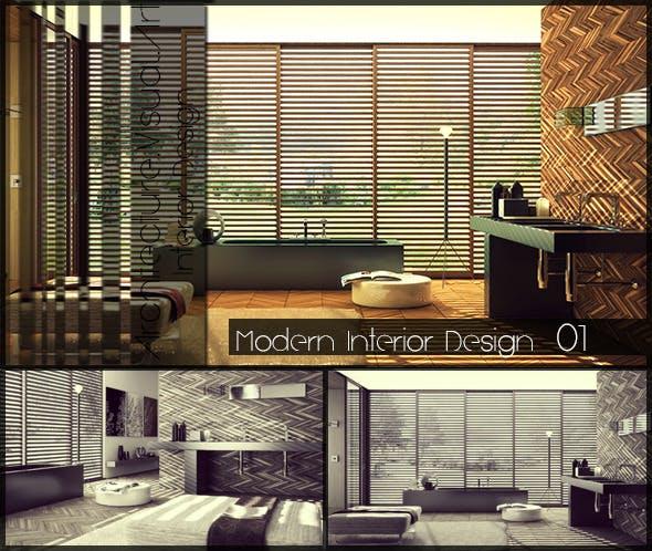 Bathroom Interior Design - 3DOcean Item for Sale