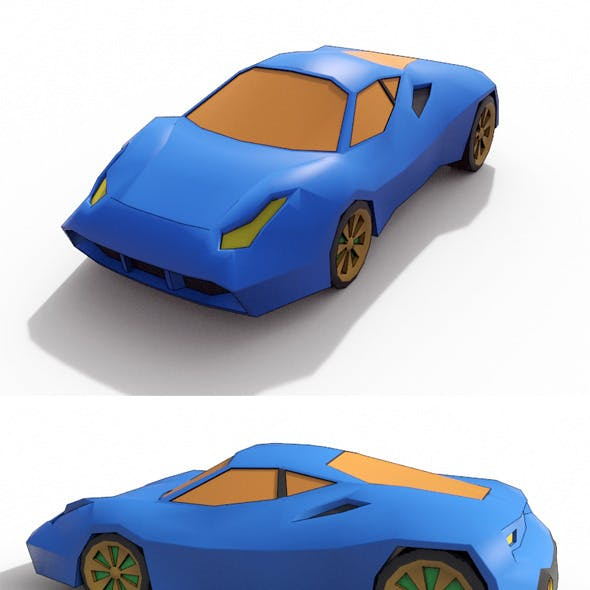 Low Poly Cartoon Car 5