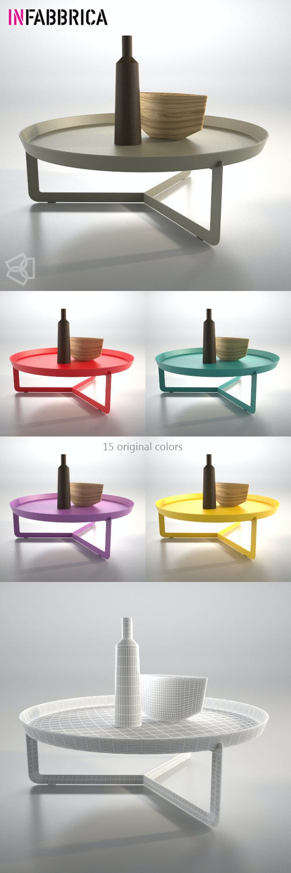Table Round3 by Infabbrica - 3DOcean Item for Sale