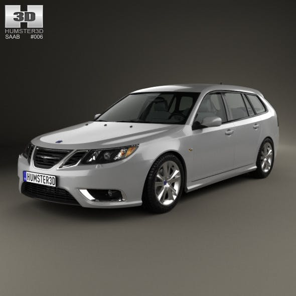 Saab 9-3 Sport Combi 2008 - 3DOcean Item for Sale
