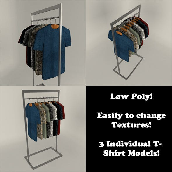 T-Shirt Display Set (Low Poly)