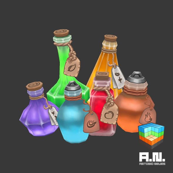 Hand painted potions