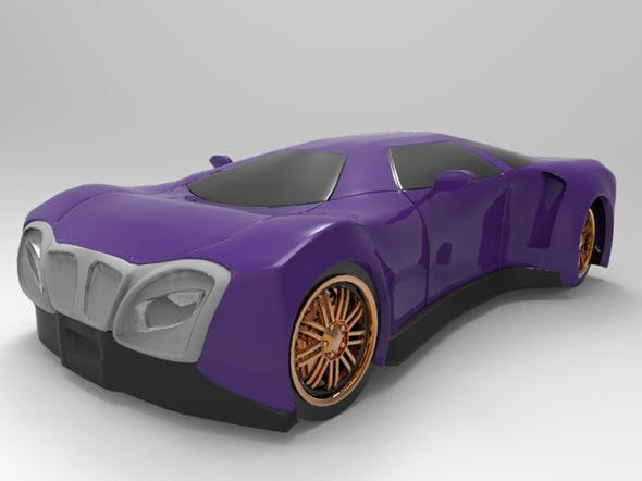 Sport Car Concept2 - 3DOcean Item for Sale