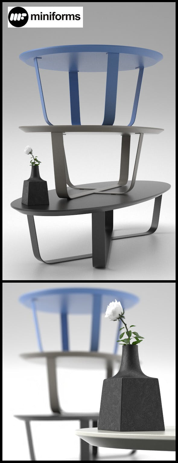 3 Table BINO by Miniforms - 3DOcean Item for Sale