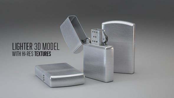 Scratched Lighter - 3DOcean Item for Sale