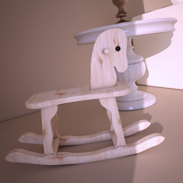 Wood horse  - 3DOcean Item for Sale