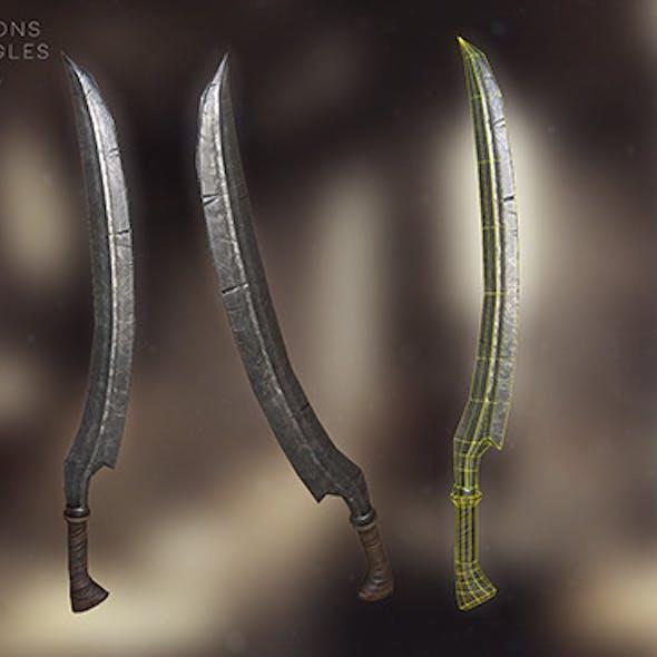 Game Ready Low-Poly Elvish Sword