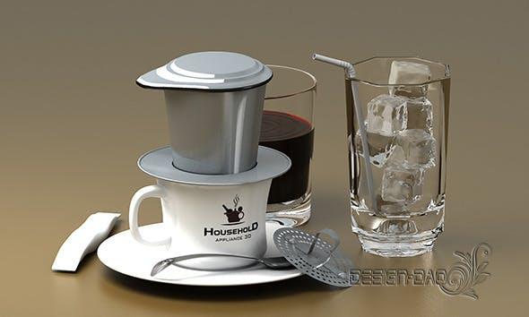 Hand coffee pot maker ( Detail) - 3DOcean Item for Sale