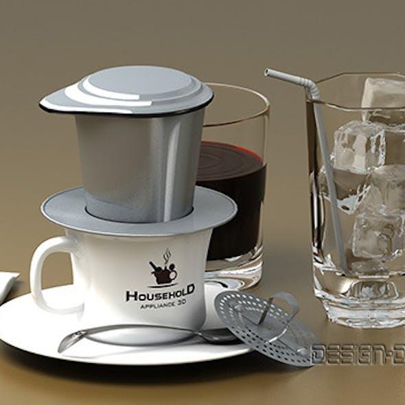 Hand coffee pot maker ( Detail)