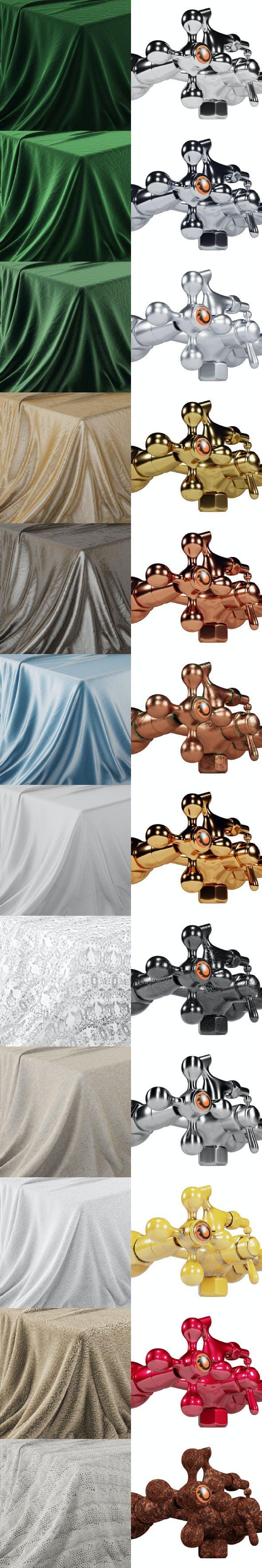 Corona material 1.00.02 kit - 3DOcean Item for Sale