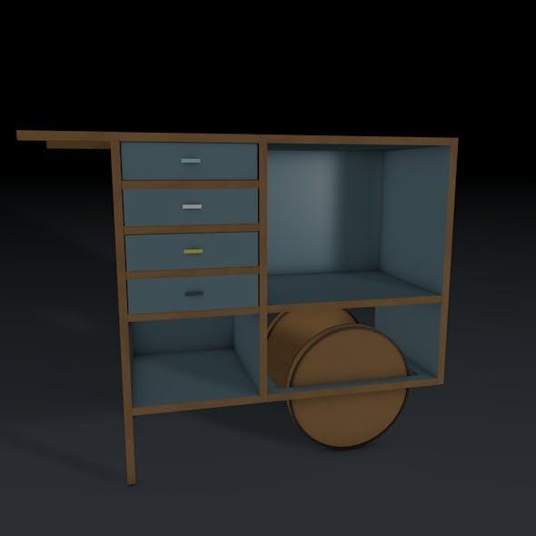 Portable Shelves - 3DOcean Item for Sale