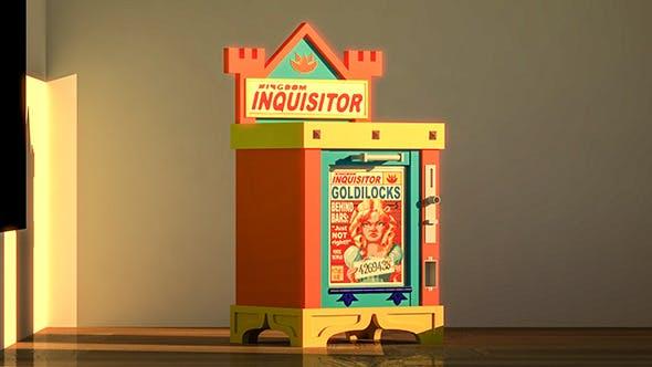 ?artoon Newspaper cabinet - 3DOcean Item for Sale