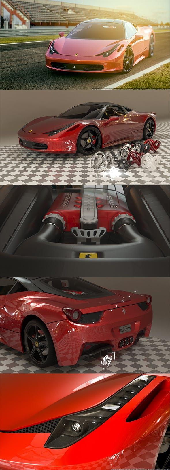 Ferrari 458 Italia 2015 [Madcar and Corona Ready] - 3DOcean Item for Sale