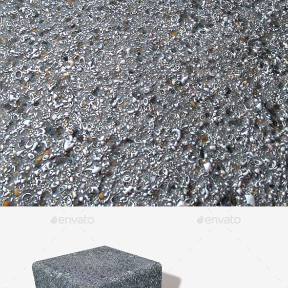 Tarmac with Embedded Shells Seamless Texture