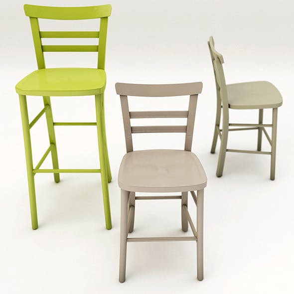 Chair design colors - 3DOcean Item for Sale