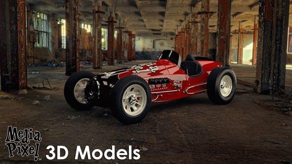 Vintage Sprint Car 3D Model by Media Pixel™ - 3DOcean Item for Sale