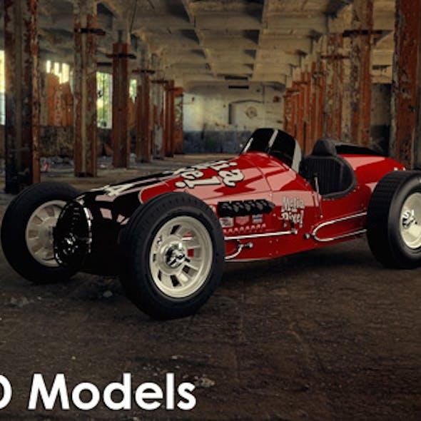 Vintage Sprint Car 3D Model by Media Pixel™