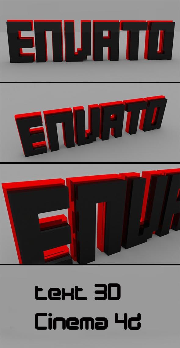 Text 3D Envato  - 3DOcean Item for Sale
