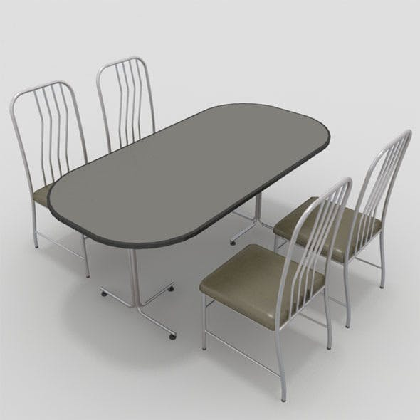 Table with Chairs-7 - 3DOcean Item for Sale