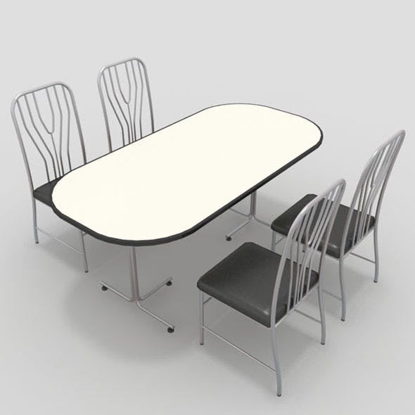 Table with Chairs-11 - 3DOcean Item for Sale