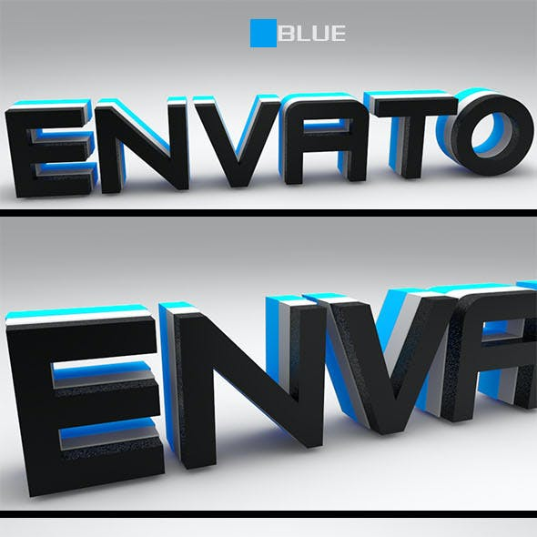 Text 3D Envato ( Blue-Green-Yellow)